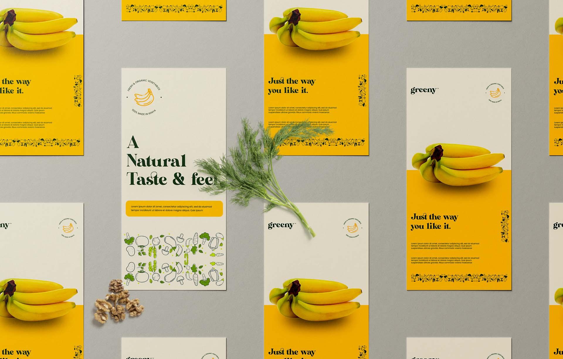 Greeny banana flyer branding