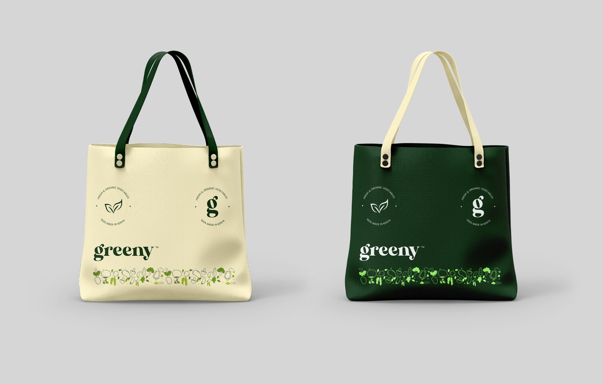 Greeny tote bags