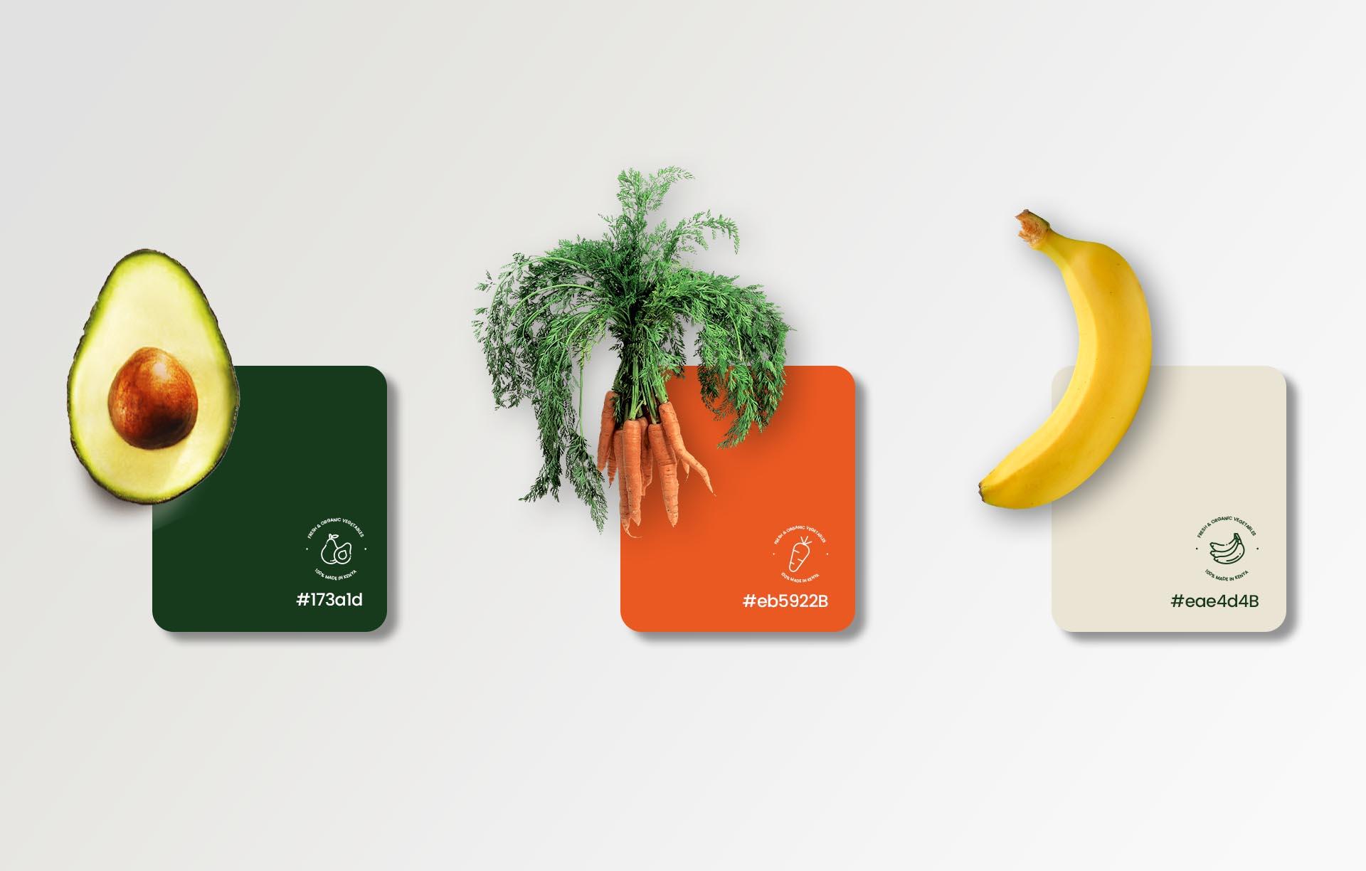 Greeny logo color samples