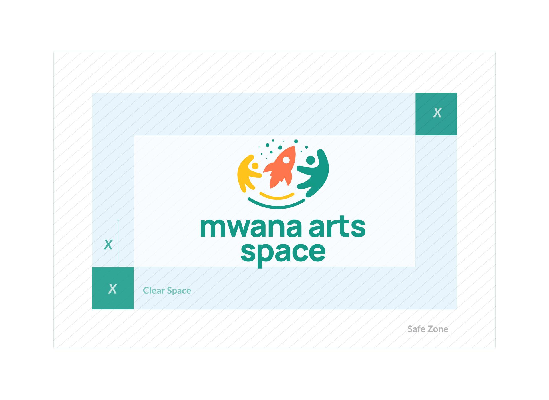 Mwana Arts Space logo dimensions