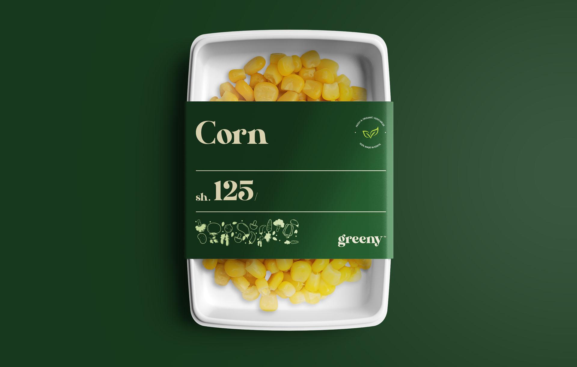 Greeny corn food packaging sample