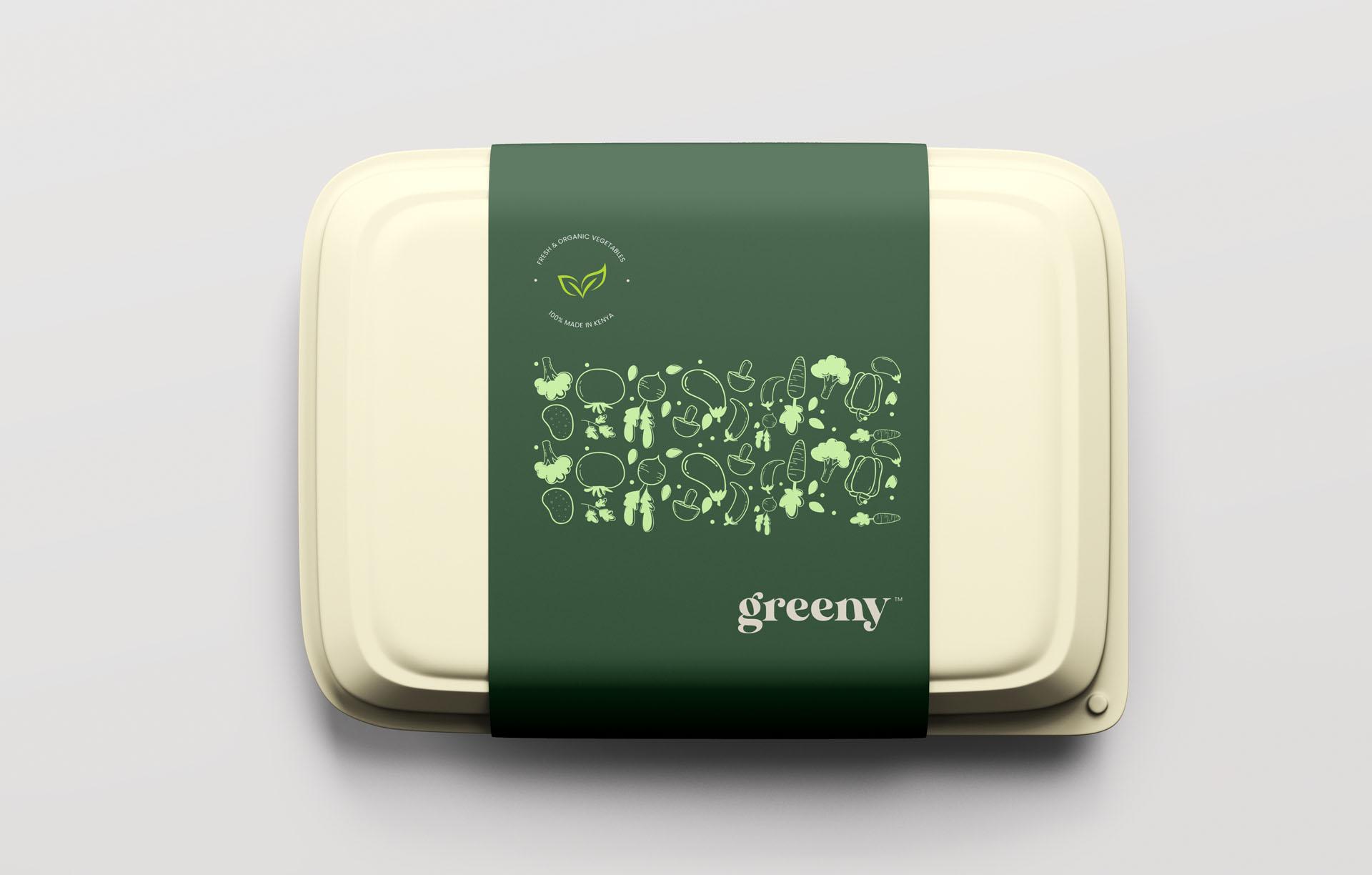 Greeny food packaging sample