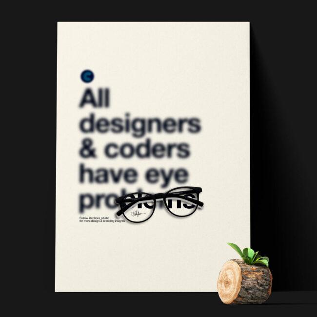 Designer poster art print
